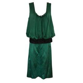 Alberta Ferretti-Tailleur jupe-Vert