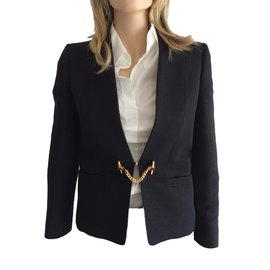 Gucci-Blazer veste fermeture 'bijou'-Bleu Marine