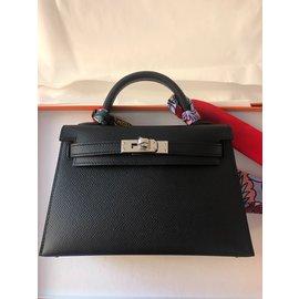 Hermès-Kelly Mini II sellier-Noir