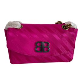 Balenciaga-BB Round-Pink