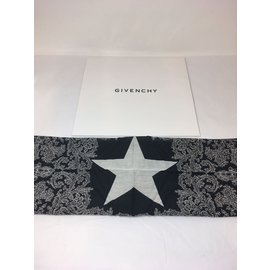 Givenchy-Foulard-Noir,Blanc