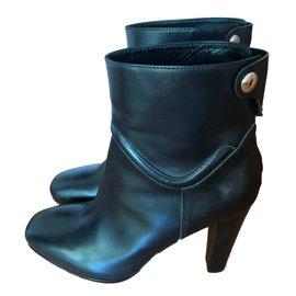 Hermès-Bottines noires-Noir