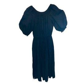 Yves Saint Laurent-Robe vintage-Bleu Marine