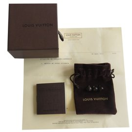 Louis Vuitton-Boucles d'oreilles puces Louis Vuitton-Marron
