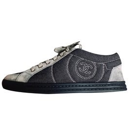 Chanel-sneakers-Black,Grey