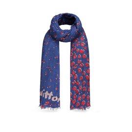 Louis Vuitton-Foulard-Rouge,Bleu