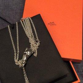 Hermès-SAUTOIR  GALOP-Argenté