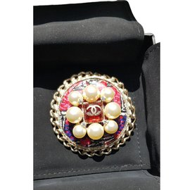 Chanel-Pins & brooches-Red