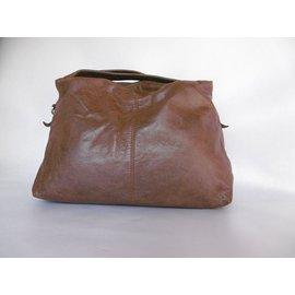 Balenciaga-Balenciaga Leather Handbag-Brown