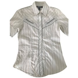 Dkny-Tops-Beige,Gris anthracite