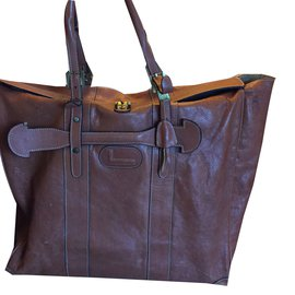 Lancel-sac de voyage-Marron