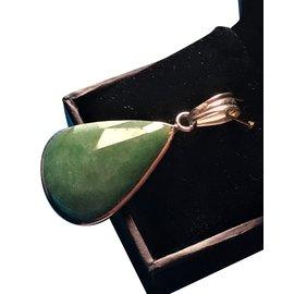 """Autre Marque-Superbe pendentif en emeraude véritable (du brésil) forme de """"poire"""" 8grs-Vert"""