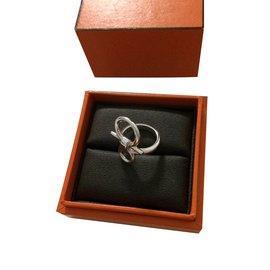 Hermès-Mors de Bride Ring-Silvery