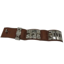 Hermès-Bracelet Collier de chien-Caramel
