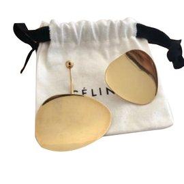 Céline-Gold petal earings-Golden