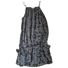 Bel Air-Robe en soie-Noir