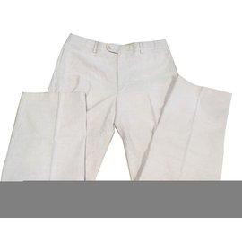 Hermès-Pants-Pink,White