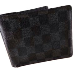 Louis Vuitton-Black wallet-Black