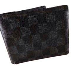 Louis Vuitton-Portefeuille multiple  noir-Noir