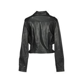 Alexander Mcqueen-Leather Jacket Alexander McQueen, Size IT 38-Black