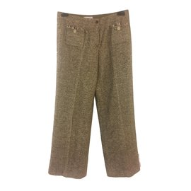Chanel-Pantalons-Marron