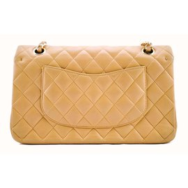 Chanel-Timeless classic double flap-Cream