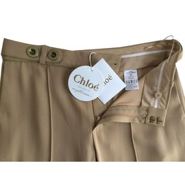 Chloé-Pants, leggings-Beige