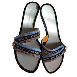 Louis Vuitton-Mules-Bleu
