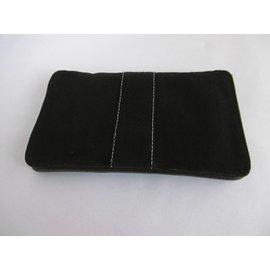 Hermès-Cloth Clutch Wallet-Black