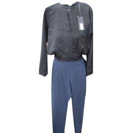 Ikks-Combinaisons Navy-Noir,Bleu