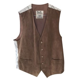 Hermès-Pulls, Gilets-Marron