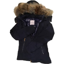 Moncler-Coats, Outerwear-Navy blue