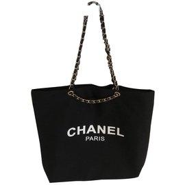 Chanel-Chanel vip gift tote-Black