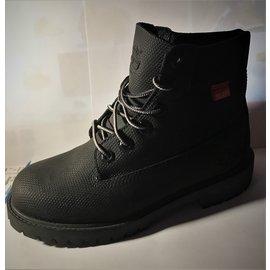 Timberland-Bottines & low boots plates-Noir