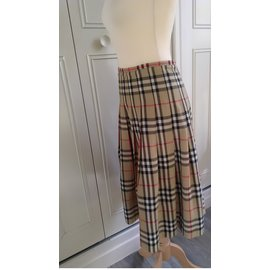 Burberry-Skirts-Brown