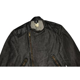 Versace-Men Coats Outerwear-Black,Grey