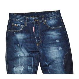 Dsquared2-Pantalons homme-Bleu