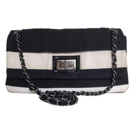 Chanel-Handbags-Black,White