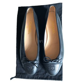 Chanel-Black Ballerinas-Black