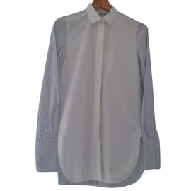 Céline-Long shirt-White,Blue