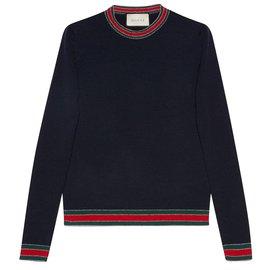 Gucci-Pulls, Gilets-Bleu Marine