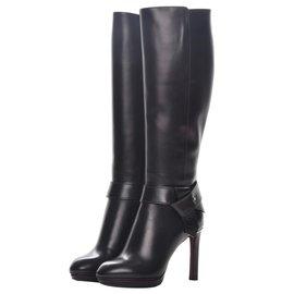 Louis Vuitton-Belted high boot-Noir