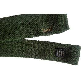 Yves Saint Laurent-ties-Olive green