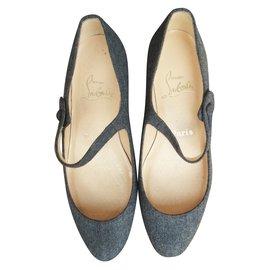 Christian Louboutin-Ballet flats-Grey