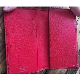 "Louis Vuitton-Portefeuille/Porte Carte Modèle Style""Brazza""--Rouge"