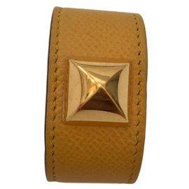 Hermès-bracelet Médor-Moutarde