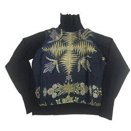 Hermès-Pulls, Gilets-Noir,Doré