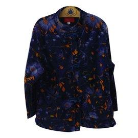 Autre Marque-Blousons, manteaux filles-Bleu Marine