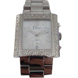Dior-Montre dior riva sparkling diamants-Blanc