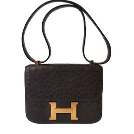 Hermès-Handbags-Brown